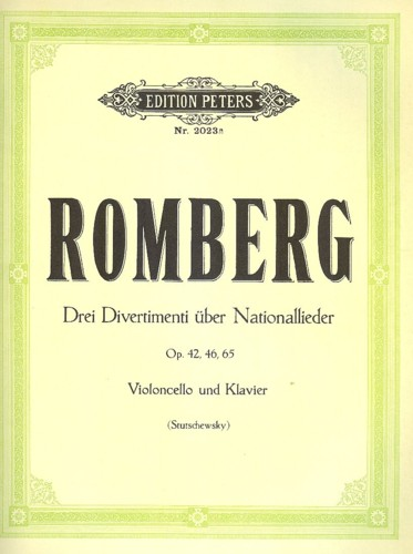 Romberg 3 Divertimenti On National Songs Vcl/pf Sheet Music