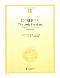 Debussy The Little Shepherd Brison Flute & Piano Sheet Music