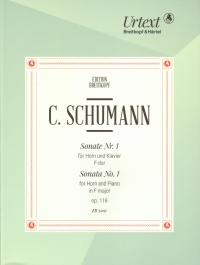 Schumann C Sonata No 1 F Op118 Horn & Piano Sheet Music
