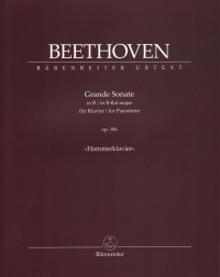 Beethoven Grande Sonate Bb Op106 Hammerklavier Sheet Music