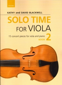 Solo Time For Viola Blackwell Book 2 Sheet Music