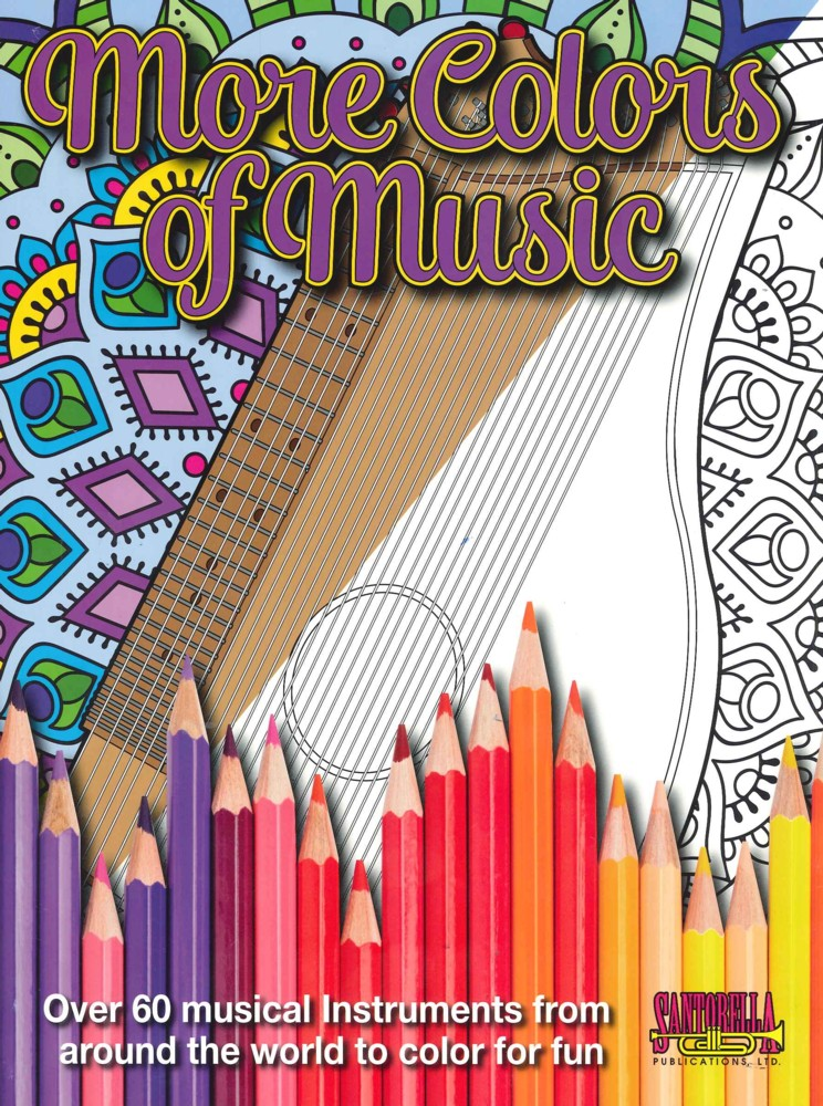 More Colors Of Music Instrument Colouring Book Sheet Music