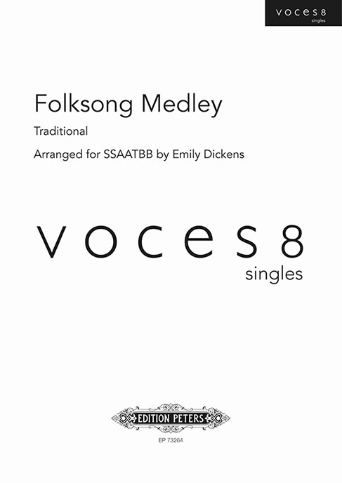 Folk Song Medley Arr. Dickens Ssaatbb Sheet Music