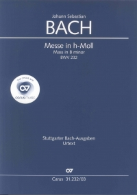 Bach Mass B Minor Bwv232 Vocal Score Sheet Music