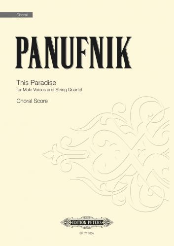 Panufnik This Paradise Choir Part Sheet Music