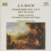 BACH FRENCH SUITES Nos 1 & 2 Italian Concerto CD
