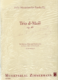 Mendelssohn Trio In D Minor Op.40 Flt, Vlc & Pf Sheet Music