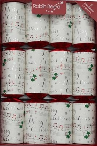 Christmas Crackers (8) Musical Chimes 33cm Sheet Music