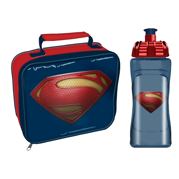SUPERMAN LUNCH BAG & WATER BOTTLE