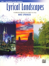 Lyrical Landscapes Book 1 Springer Piano Sheet Music