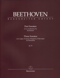 Beethoven Three Sonatas Op31 G D Eb Piano Sheet Music