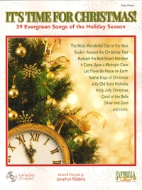 Its Time For Christmas Robbins Easy Piano + Cd Sheet Music