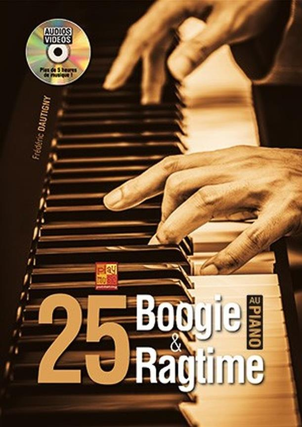 25 Boogie Et Ragtime Au Piano Book & Dvd Sheet Music