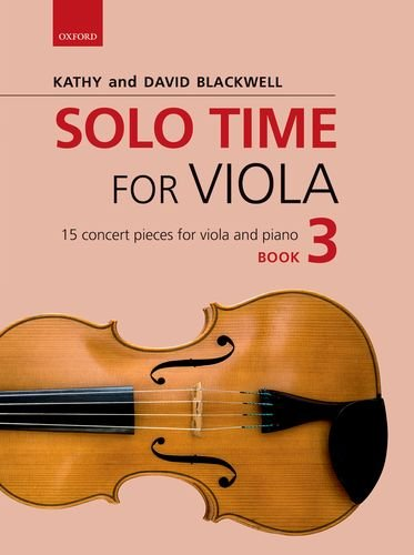 Solo Time For Viola Blackwell Book 3 Sheet Music