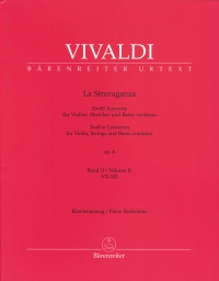 Vivaldi La Stravaganza Op4 Vol Ii Piano Reduction Sheet Music