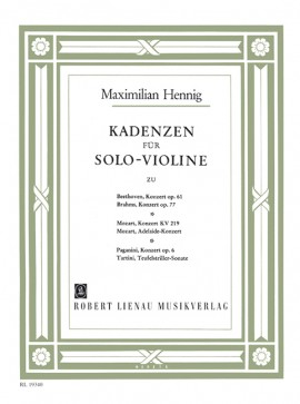 Hennig Cadenzas For Solo Violin Complete Sheet Music