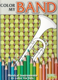 Color My Band Instrument Colouring Book Sheet Music