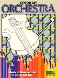 Color My Orchestra Instrument Colouring Book Sheet Music