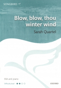Blow Blow Thou Winter Wind Quartel Ssa & Piano Sheet Music