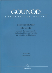 Gounod Messe Solennelle Ste Cecile Vocal Score Sheet Music