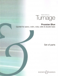 Turnage Prussian Blue Quintet Set Of Parts Sheet Music