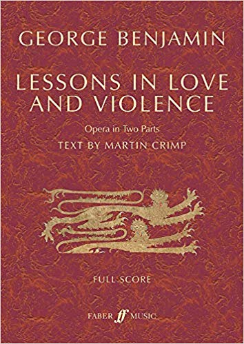 Benjamin Lessons In Love And Violence Full Score Sheet Music
