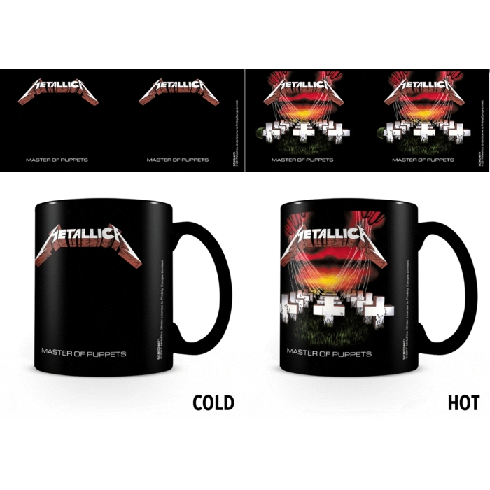 Metallica Heat Change Mug Master Of Puppets Sheet Music