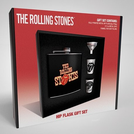 Rolling Stones Hip Flask Gift Set Tongues Sep 18 Sheet Music