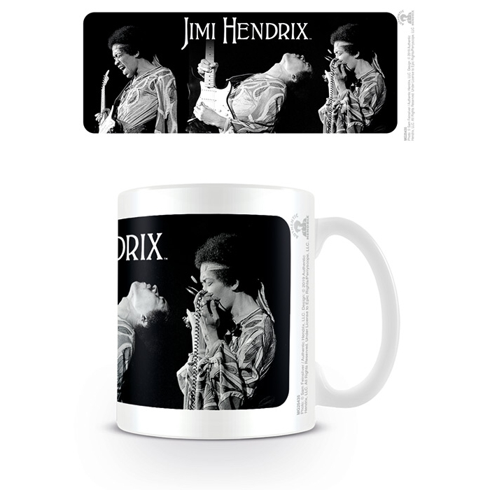 Jimi Hendrix Boxed Mug Triptych Sheet Music