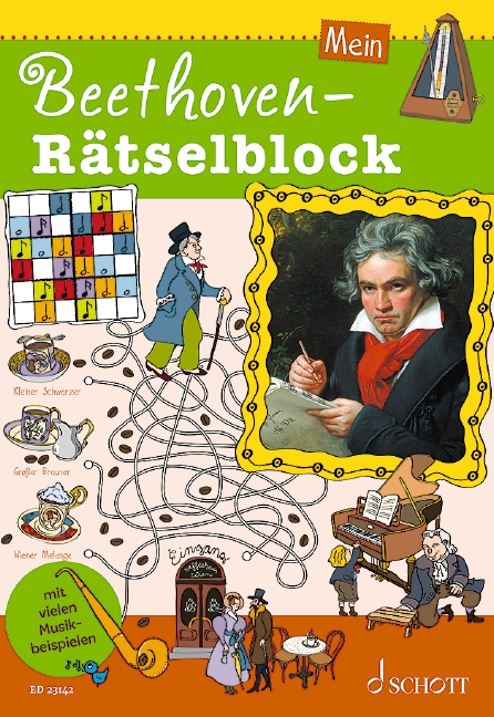 Mein Beethoven-ratselblock Book & Online Audio Sheet Music